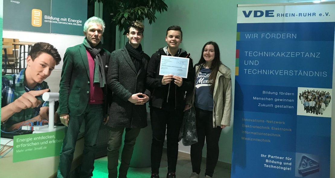 """10b beim """"VDE-Technik-Preis 2018"""" eine Runde weiter"""