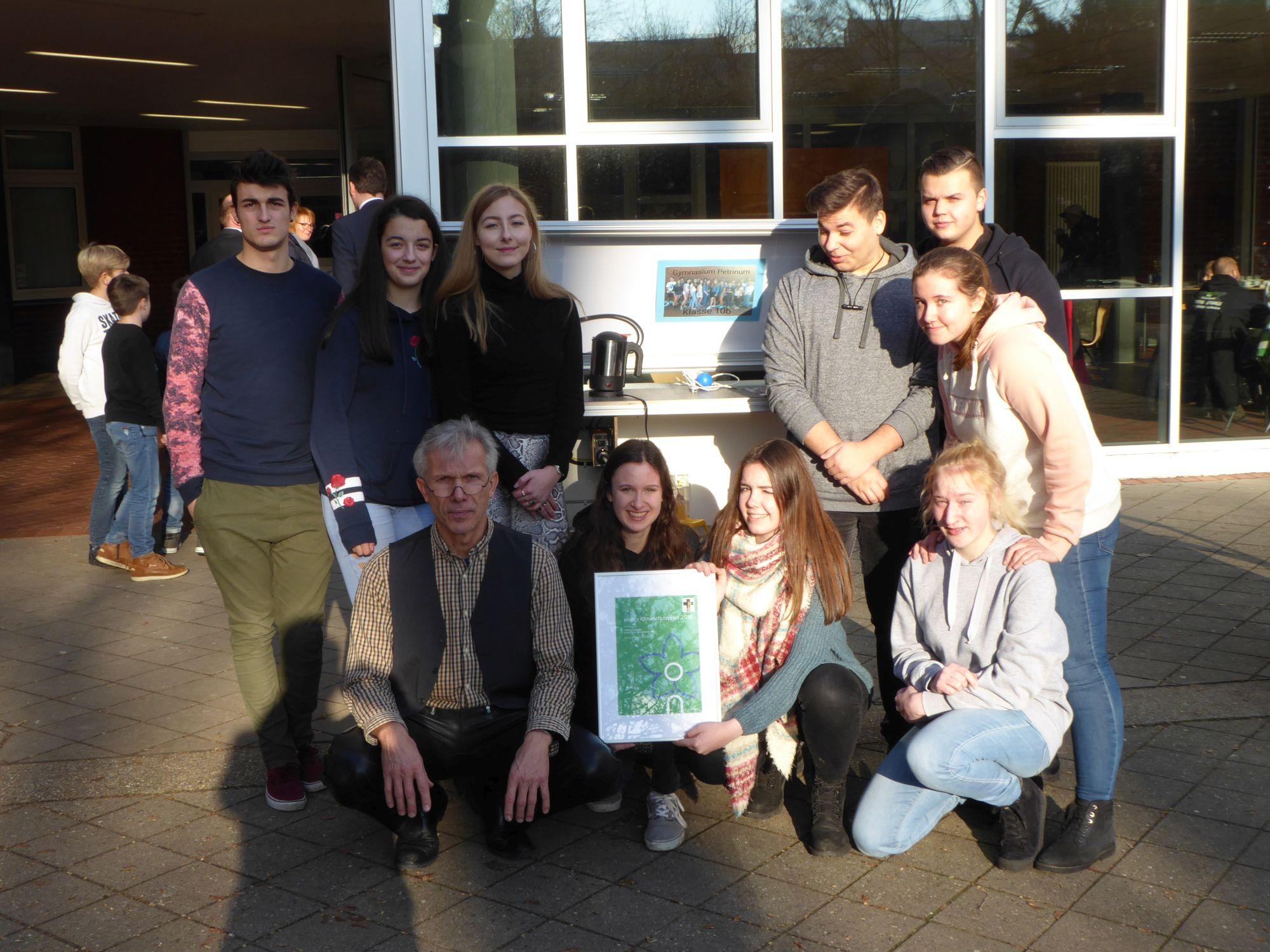 Gymnasium Petrinum erhält innogy Klimaschutzpreis