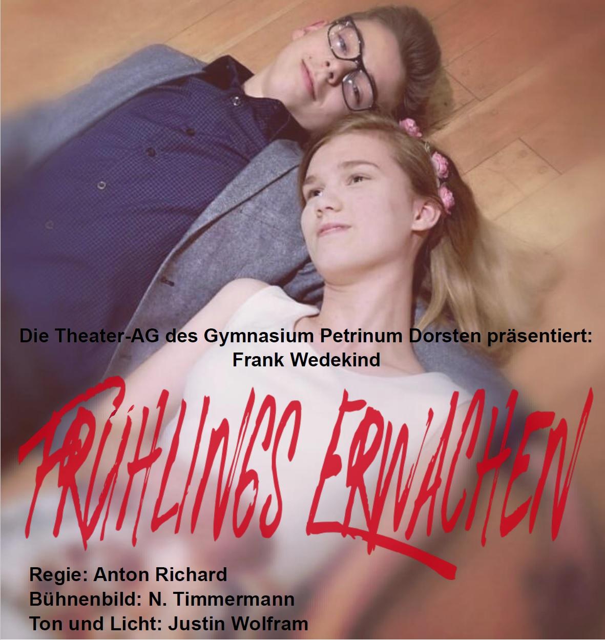 Theater: Frühlings Erwachen (Zusatzvorstellung)